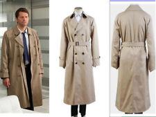 Supernatural Hunter Angel Emmanuel Cas/Castiel Twill Trench Coat Cosplay Costume
