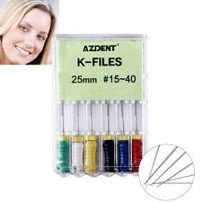 dental Niti Dental K-files 25mm #15-40 Endodontic Root Canal Hand Use File Italy