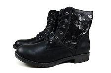 Elegante Damen Boots Frühling Stiefeletten Stiefel Gr.36-41 A.367 Schwarz SDS