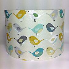 Pájaro Pantalla de Lámpara Fryetts Scandi Pájaros Tela Techo o lámpara pantalla