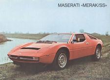 1980 1981 Maserati Merak SS Original Sales Brochure