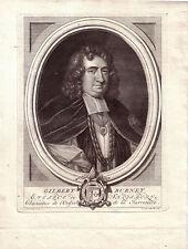 Gilbert Burnet Salisbury Portrait COPPER ENGRAVING 1724 English historian Bishop