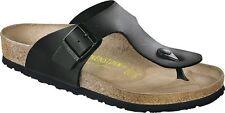 Birkenstock Ramses Zehensteg Sandale Schwarz Größe 38-48 Fußbett normal