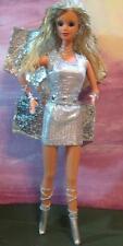 Metallic Silver Futuristic Faerie Fairy~OOAK Barbie Doll Repaint