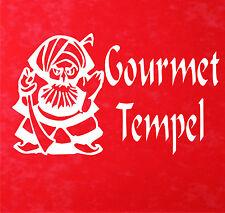 wall-refine wx-02012 Gourmet Temple PORTE AUTOCOLLANT DE Sticker mural cuisine
