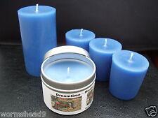Handmade TOPPER DREAMTIME IN MEDIEVALE Aromaterapia BLU CANDELA votive, pilastro o di contenitore