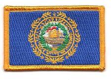 Toppe Toppa PATCH NEW HAMPSHIRE Bandiera 7x4.5cm USA AMERICA ricamata