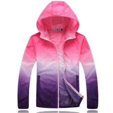 Rain Coat Womens Waterproof Jacket Thin Hooded Quick Drying Women Trench Type