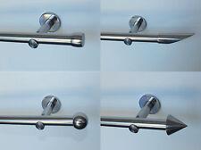 Vorhangstange 20 mm Edelstahl Optik in jeder Länge mit sehr stabilen Wandhaltern