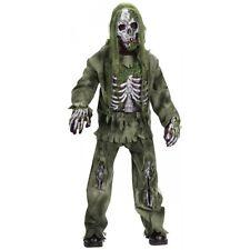 Zombie Skeleton Costume Kids Scary Halloween Fancy Dress