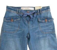 New Womens Blue NEXT Crop Jeans Size 10 8 6 Leg 32