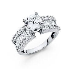 14k White Gold 1.5 Ct Diamond Round Solitaire Engagement Wedding Bridal Ring
