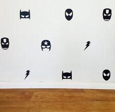 Mixed Supereroe Batman Ironman Captain America Wall Art Sticker Maschera Bambino Camera Da Letto