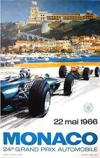 1966 Monaco Grand Prix Motor Racing Poster A3/A2 Print