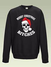 Merry Christmas Bitches Jumper Sweatshirt JH030 Sweater Funny Xmas Santa Skull