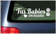 Fur Babies on Board Sticker Decal Car window fun dog puppy cat pet