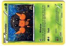 PROMO POKEMON MAC DO 2012 MCDONALD'S W&B CARD HOLO N°  3/12 DWEBBLE