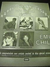 Ole Ole Myriam Hernandez Veronica Castro Shirley Bassey P. Ruiz 1989 promo ad