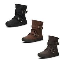 Blowfish Damen Boots Stiefel Stiefeletten Reißverschluss Schnallen Herbst