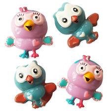 4pcs Funny Birds Resin Kawaii Flatback Cabochons Embellishment Decoden Craft