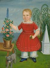 "Folk Art : ""Memorial to Nicholas M. S. Catlin"" (c.1852) — Giclee Fine Art Print"