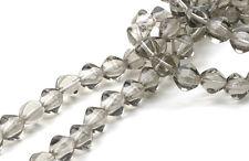 50 Black Dia Bicone Czech Glass Beads 6MM