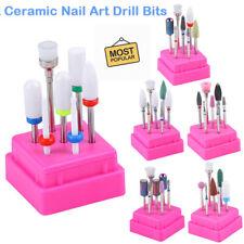 7Pcs/set Acrylic Cuticle Nails File Burr Bit Ceramic Nail Drill Bits Set