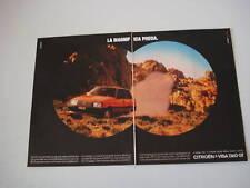 advertising Pubblicità 1983 CITROEN VISA 1360 GT