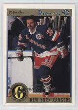 1991-92 O-Pee-Chee Premier #147 New York Rangers Team Hockey Card