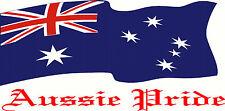 Huge Aussie Pride Australia Flag Wall, Bonnet, Truck,  Sticker Decal 1000 x 500