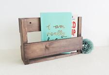 wooden letter rack, wood shelves for hall, magazine rack, narrow shelves