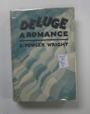 DELUGE A ROMANCE S FOWLER WRIGHT 1ST US ED DJ 1928 COSMOPOLITAN