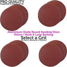 10 Packs – diamètre 125 mm Oxyde d'Aluminium de Ponçage/disques de broyage – Crochet & Boucle Arrière