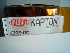 "New listing 10 Square Feet Kapton Polyimide Film Dupont 100H .001 X 12"" X 120"" Sheet"