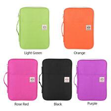 Pure Color A4 Document Bag File Folder Portfolio Organizer Zippered Carry Case