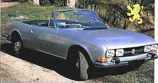 PEUGEOT 504 CABRIOLET SPEC SHEET / Brochure: 1979,1980,1981,...