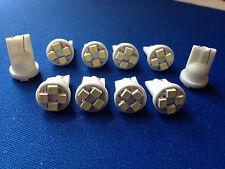 10 White Jeep *SUPER BRIGHT* 12V LED 194 Wedge Instrument Panel Light Bulbs NOS