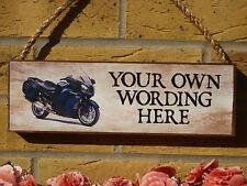 MADE to Order Garage Segno Moto segno unico Regali per motociclisti placche in legno