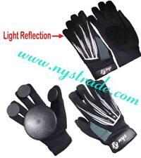 Longboarding/Skateboard/Sliding Gloves with Light Reflector & Quality Slide Puck