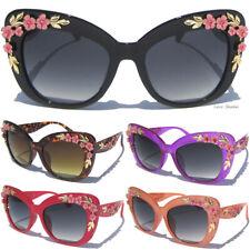 Floral Almond Flower Leaf Cateye Cat Eye Frame Sunglasses Shades Women Sunnies