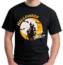 Velocitee da Uomo Halloween Dolcetto o Scherzetto T Shirt v136