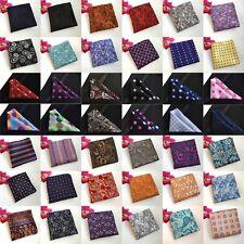 Men Paisley Flowers Polka Dots Stripe Pocket Square Wedding Handkerchiefs