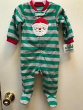 Christmas Santa Green BABY BOY PAJAMAS Child of Mine NewBorn, 0-3 +  3-6 mo NWT