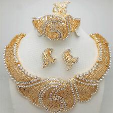 Fashion Exquisite Dubai Jewelry Set Luxury Gold Color Big Nigerian Wedding Af...