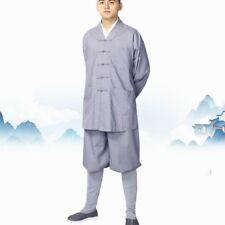 Monk Kung Fu Uniform Shaolin Temple Costume Buddhist Robe Meditatio Tai Chi Suit