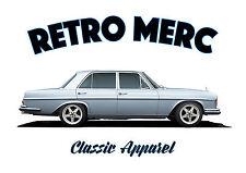 Mercedes W108 Swb Saloon T-shirt. Retro Merc. coche clásico. alemán. modificado.