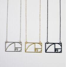 Fibonacci Number Sequence Pendant Necklace Mathematics Jewellery & Gift Bag