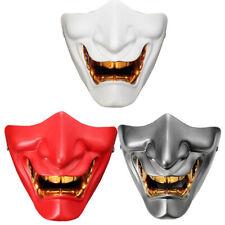 Half Face Mask Cosplay Kabuki Samurai Devil Halloween Party Festival