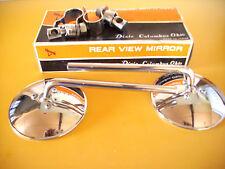 "Mirrors CLASSIC NOS Triumph Norton BSA  6"" stem - 4"" Round 7/8"" BAR"