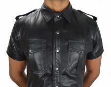 AW-659 Leder Poloshirt Nappa leder,tops Leather Shirt,leder hemd,Polo shirt